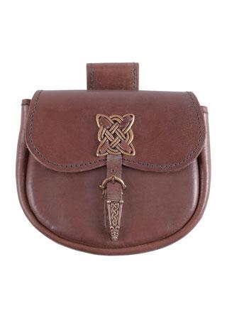 Gürteltasche mit keltischen Zierbeschlägen, Mittelalter, Tasche, Leder, Keltisch