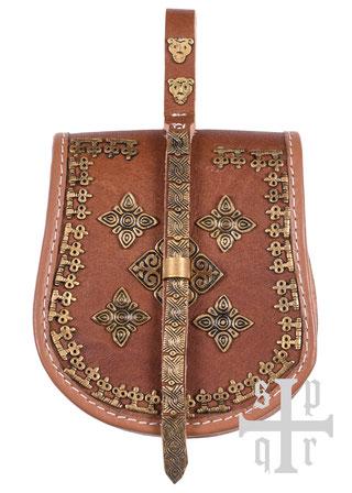 Birka-Tasche, Wikingertasche aus Leder