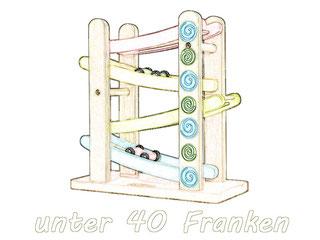 """Hochwertige Spielsachen für wenig Geld in der Kategorie """"Unter 40 Franken""""."""