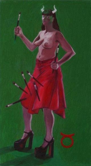 """""""TORO"""",olio su tela,100 cm x 180 cm"""