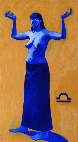 """BILANCIA"",olio su tela,100 cm x 180 cm"