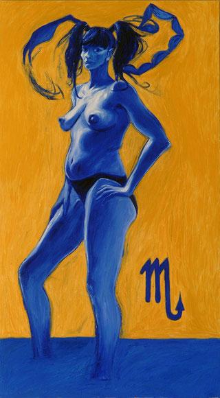 """""""SCORPIONE"""",olio su tela,100 cm x 180 cm"""
