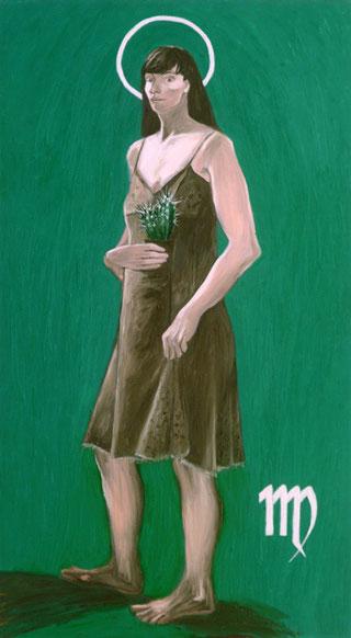 """""""VWERGINE"""",olio su tela,100 cm x 180 cm"""