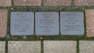 Minna, Ernst und Fanny Rosenbaum