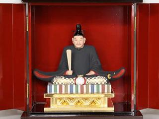 天神社の菅原道真公です