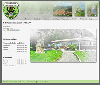 Alte Website bis 2015 des Schützenvereins Urach 1748 e. V.