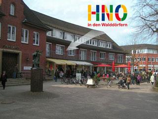 """HNO Hamburg Volksdorf - Zugang zur Praxis von der """"weißen Rose"""""""