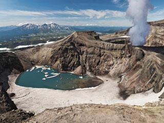 Active volcano Gorely