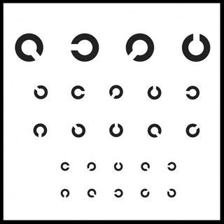 Die Tafel zeigt einen Sehtest, wie er bei einem Führerschein Sehtest gemacht wird. Der Führerschein Sehtest kann ohne termin bei Augenoptik Tölle im real,- Südring Center gemacht werden.