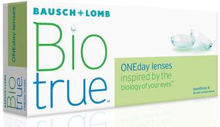 BioTrue Tageslinse, die Kontaktlinse mit langanhaltendem Tragekomfort.