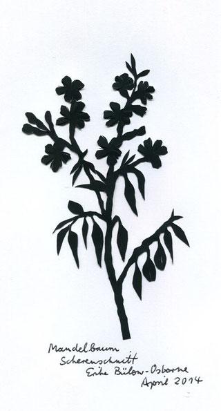 Scherenschnitt Mandelbaum