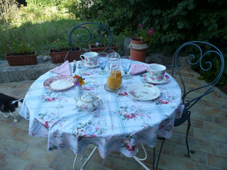 breakfast B&B crocq closerie des lupins