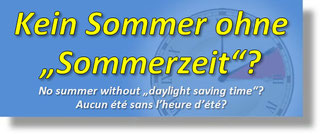 "Die ""Sommerzeit"", Daylight Saving Time, DST"