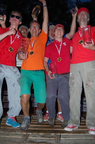 Sieger der WM 2015: Gipfelstürmer & Freunde mit unserem Andy