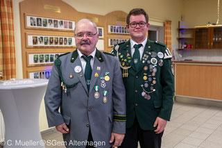 König der Könige Adolf Behrens mit seiner Frau Ingrid