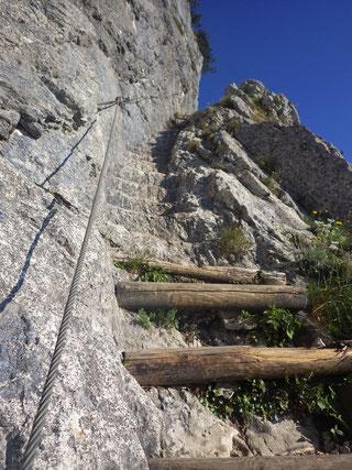 Auf dem Dopplersteig, welcher teilweise in den Fels gehauen wurde.