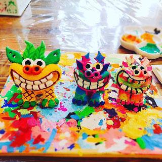 3歳の子とママの作品