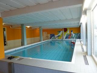 Der Pool im oberen Haus