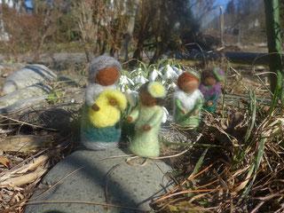 Mutter Erde Blumenkindern  Märchenwolle