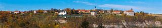 Blick über die Saale zu den Dornburger Schlössern