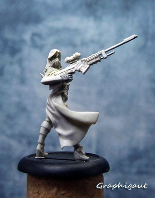 Nikita, 32mm sculptée par Graphigaut, assassin, infinity proxy