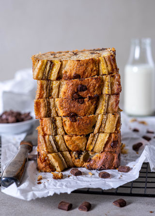Bananabread, banana cake, chocolate, bananas, cake, Bananenbrot, Peanutbutter, Erdnussbutter