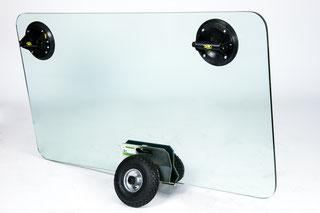 TSK 300 Air Plattenroller mit Klemmbacken transportsolution Glastransportwagen Plattentransportwagen, Glaswagen, Glastransportwagen, Glas-Transportwagen, Glas, Transportwagen, Transporthilfe, Scheibenwagen, Plattenwagen, Elementewagen, Glastransport, Glas