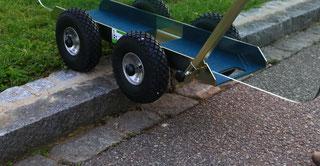 TS 500 Air Tandem Glastransportwagen mit Wood´s Powr-Grip Vakuum Handsauger bis 500 kg Tragkraft transportsolution