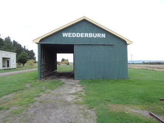 The old iconic railway goods shed at Wedderburn