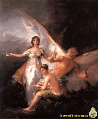 Alegoría de la Constitución del año 1812, - Obra de Francisco de Goya, Museo de Estocolmo.
