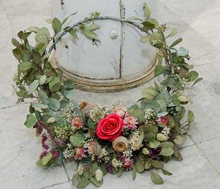 Türkranz mit Forever Rose