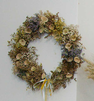 Türkranz aus Trockenblumen
