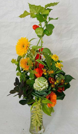Wir liefern Blumen