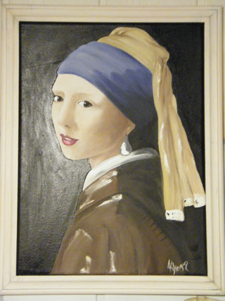 Nachbildung - Reproduktion - Das Mädchen mit dem Perlenohr - Jan Vermeer