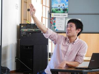 尾野寛明さん。第3期第5回セミナーにて。