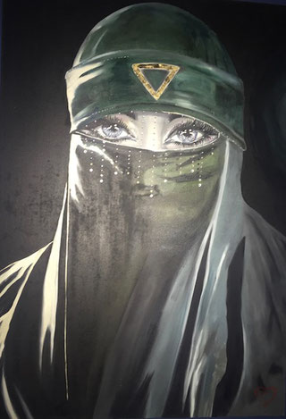 ° Sherasade oil on canvas-svarowsky 70x100 / mag. 2013