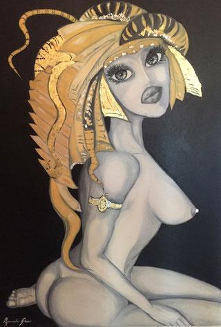 ° Mantidea oil on canvas - gold 70x100 / Sett. 2011