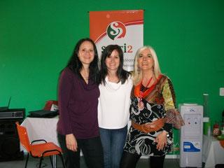Con Sandra y Lorena Vega