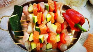 Fischspieße zu grillen von Fisch-Mehrholz