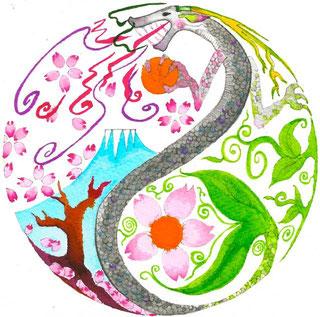 タオイスト ジャパンの 手描きアートロゴ