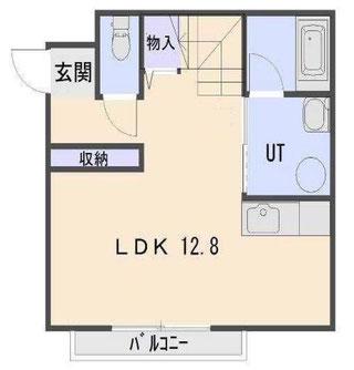 テラスハウスの1階間取り図