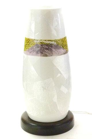 九谷焼通販 おしゃれ ランプ シェード インテリア 銀箔 銀彩 鹿児島県 桜島 ギフト