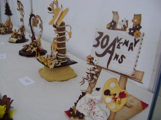 pièces réalisées par les jeunes espoirs de la boulangerie sur le site de la fête du pain 2013
