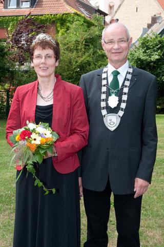 Das Königspaar 2009: Elisabeth Steltig und Alfons Book