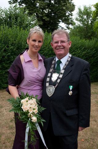 Das Königspaar 2010: Nicole Beisemann und Reinhard Seebröker