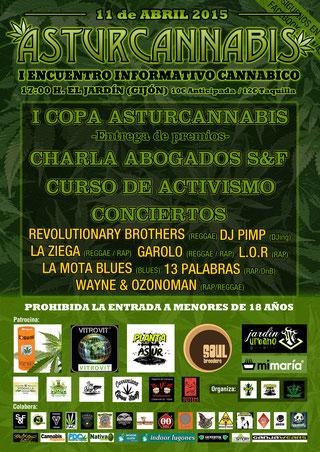 Asturcannabis 2015 encuentro informativo cannabico Asturias, BIG Seeds colaborador Asturcannabis