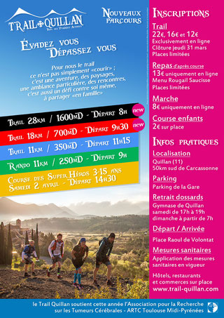 Programme Trail Quillan 2020