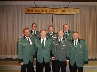 Von links: Andreas Rojer, Andreas Steinkamp, Wilfried Bahns, Dieter Rojer, Stefan Brink, Franz Hüsers und Ulrich Bertram