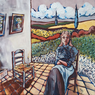 Galambos Rita: waiting for Vincent, Künstlerin, Acrylgemälde, Acrylmalerei, bildende Künstlerin, Malerin, Designerin, Illustratorin, Grafikdesignerin, hungarian Painter, contemporary artist, modern painting, Feldkirch, Vorarlberg , Austria