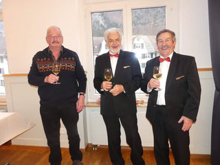 Die Ehrenveteranen mit unserem Ehrenmitglied Peter Zentner (1. von links) / Bild: GLBV / Margrith Neeracher